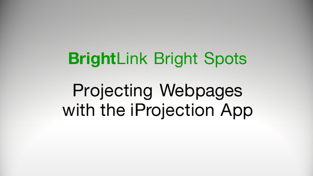 How to Project Webpages with the iProjection App