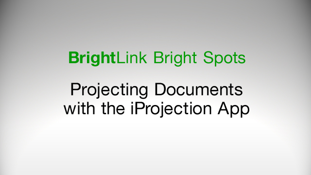 How to Project Documents Using the Epson iProjection App