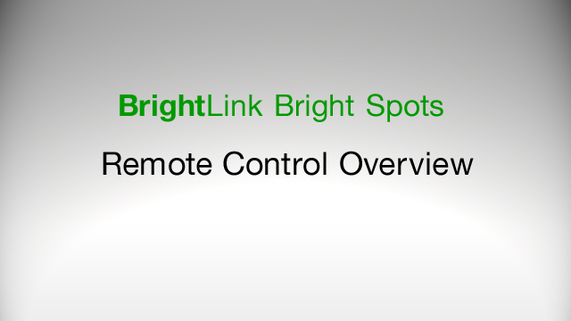 Remote Control Overview for BrightLink 425Wi, 430i, 435Wi, 475Wi, 480i, 485Wi