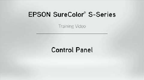 SureColor S-Series Control Panel Overview