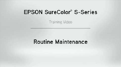 SureColor S-Series Maintenance