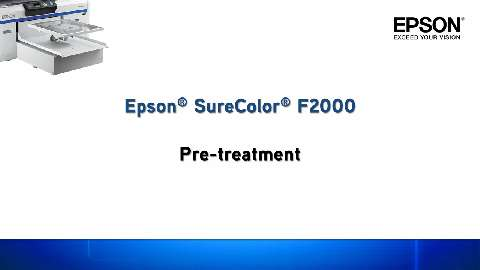 Pretreating garments for imaging on the SureColor F2000