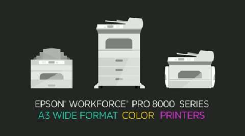Overview of Epson's WorkForce Pro 8000 Series A3 Wide Format Color Printers for Business