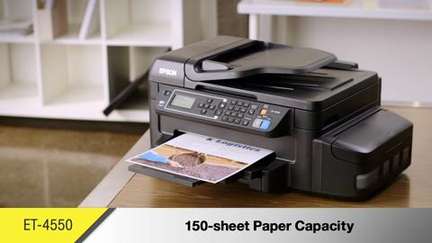 An Overview of the All-New WorkForce ET-4550 EcoTank All-in-One Printer