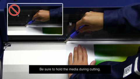How to cut media from the Surecolor S-Series Printer