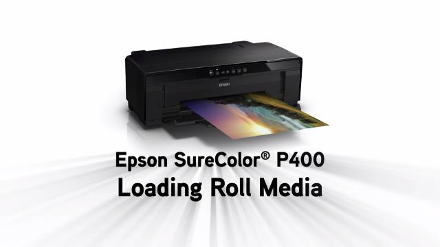 Epson SureColor P400 - Loading Roll Paper