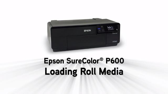 Epson SureColor P600 - Loading Roll Paper