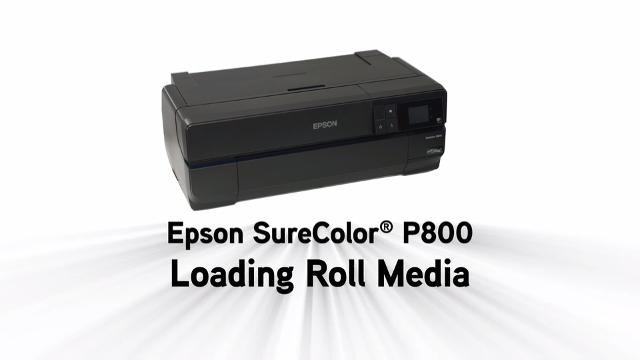 Epson SureColor P800 - Loading Roll Paper