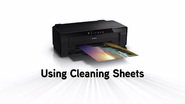 Using Cleaning Sheets and General Printer Care for the SureColor P400, P600, and P800