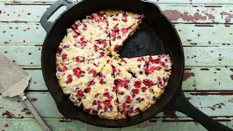 Crustless Cranberry Pie Video