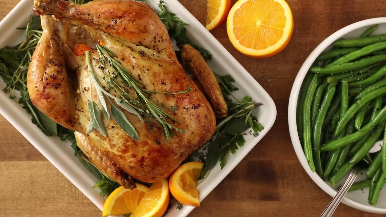 Orange Herb Roasted Chicken Video - Allrecipes.com