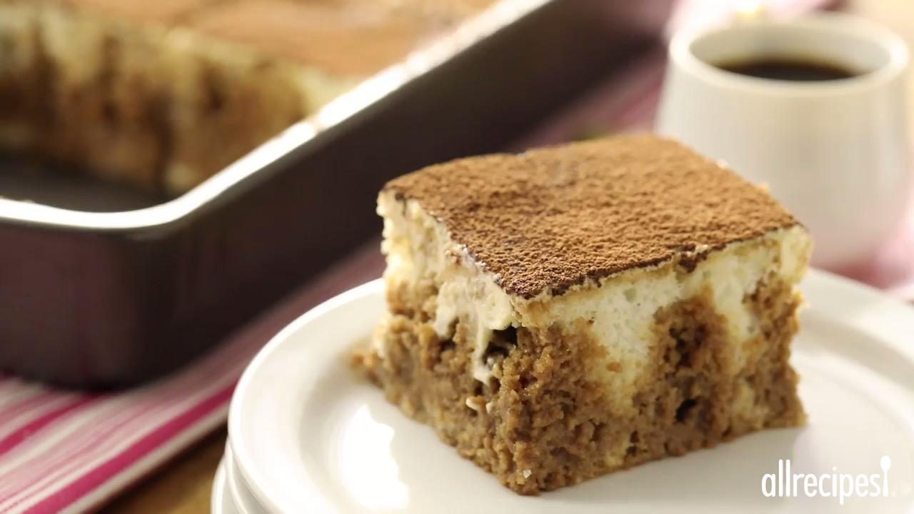 Tiramisu Layer Cake Video - Allrecipes.com