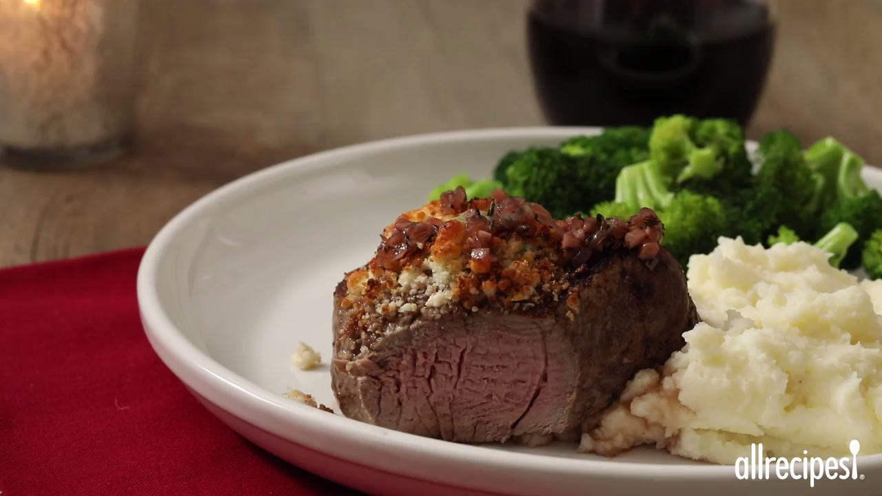 Blue Cheese Crusted Filet Mignon with Port Wine Sauce ...