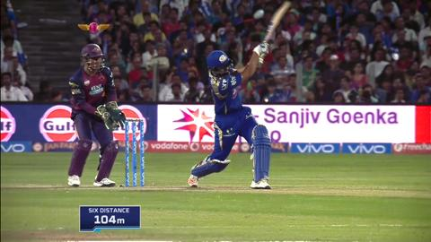 M29: RPS vs MI – Rohit Sharma Six