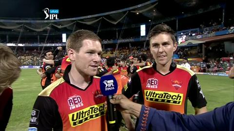 M60: RCB vs SRH – Kane Williamson, Eoin Morgan & Trent Boult Interview